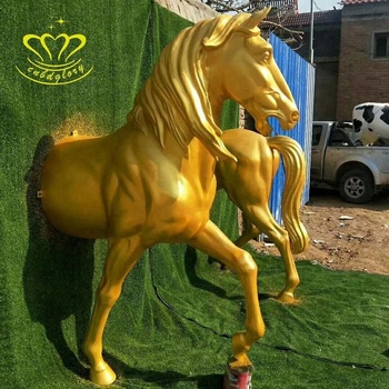 New product Design Fiberglass crafts Simulation Life Size Horse statue