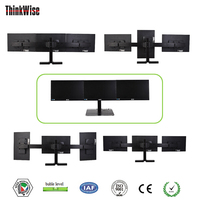 3 lcd monitor mount stand control room console used