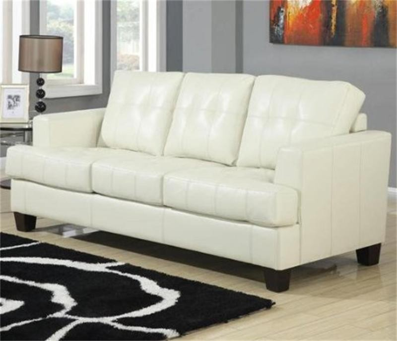 Faux Leather Pull Out Sofa Bed Sleeping