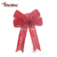 Wholesale Pre-made Christmas Jute Ribbon Bow For Gift Wrap Box Packing