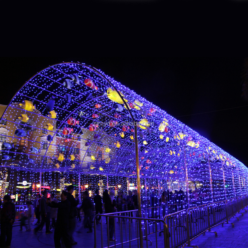 Customized Colorful Fish Tunnel Led Outdoor Lighting