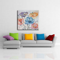 Classic-maxim new welcomed interior wall flower pictures fabric canvas painting