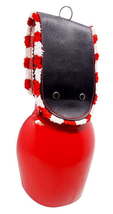 large red swiss cow bell with strap souvenir cowbell with 4 sizes available
