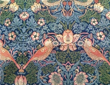 Gobelin jacquard fabric bags fabric wall fabric decoration fabrics William Morris strawberry thief