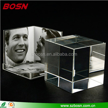 Wholesale Clear Acrylic Cube Photo Holder Block Perspex Memories