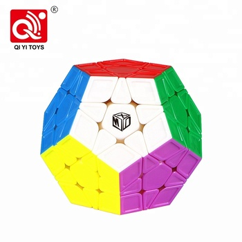 Educational abs mofangge plastic qiyi speed puzzle cube for beginner