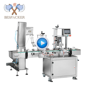 Bespacker QDX-S1 Automatic feeder twist off vacuum screw pe plastic glass jar bottle capping machine