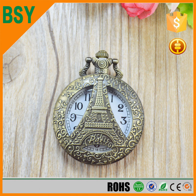 Gift Antique map lady necklace watch with long chain