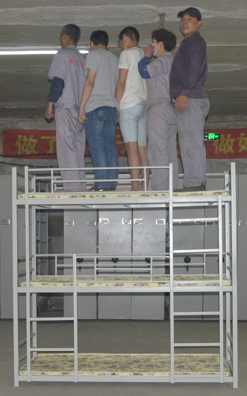 Steel double deck bed - New Fashion Single Bed Double Decker Bed Iron Steel Adult Metal Bunk Bed