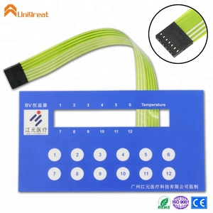 numerical panel button switch membrane keypad for instrumental panel