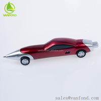 Factory Wholesale Personalized Logo Plastic Novelty Car Shaped Pen