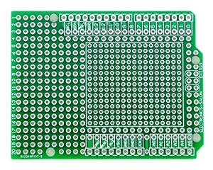 Electronics-Salon 10PCS Prototype PCB for Arduino UNO R3 Shield Board DIY, Combo 2mm+2.54mm Pitch.
