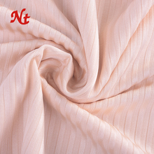 2018 New design 82% nylon 18% spandex warp knitted stripe fabric 4 way stretch which shows rib lines