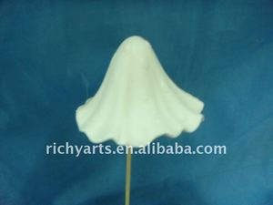 Porcelain mushroom garden decoration handmade white color
