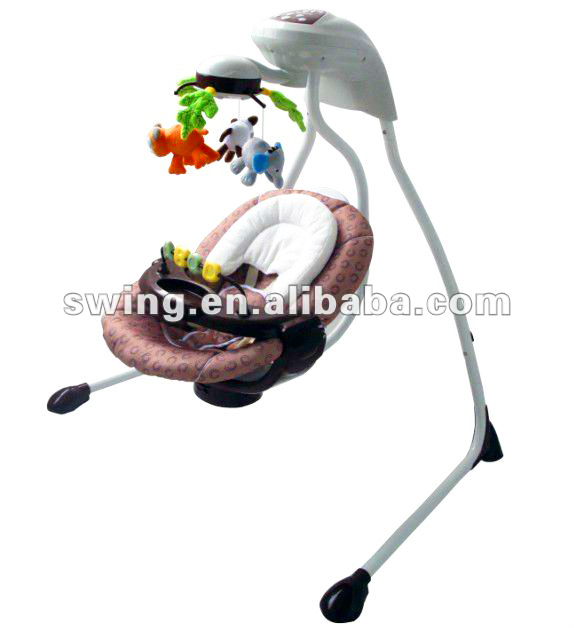 Higher Baby Automatic Cradle Swing baby Plush Rocking Chair Baby