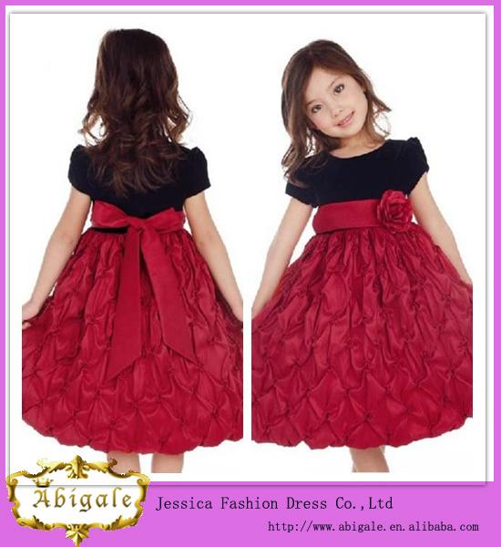 Vestido color rojo negro