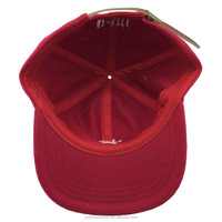 Unstructured red wool embroidered bulb snapback hat hip hop light melton snapback hat