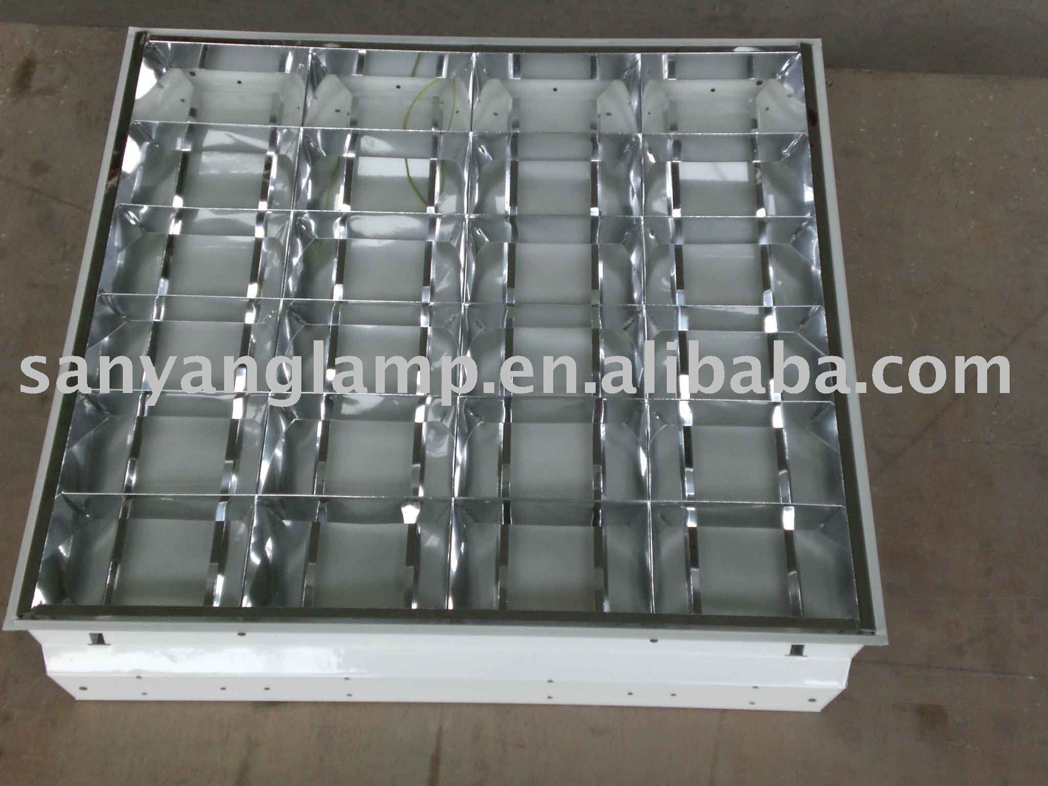 60X60CM T8 recessed Indoor grid lamp for 4 18W tubes