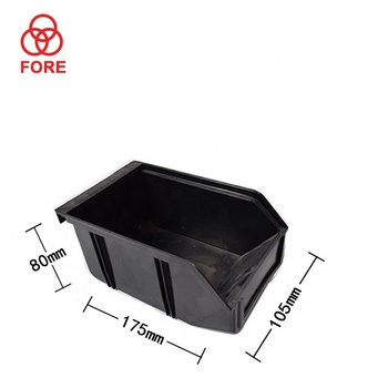 cheap antistatic plastic box black esd plastic container factory Customized box