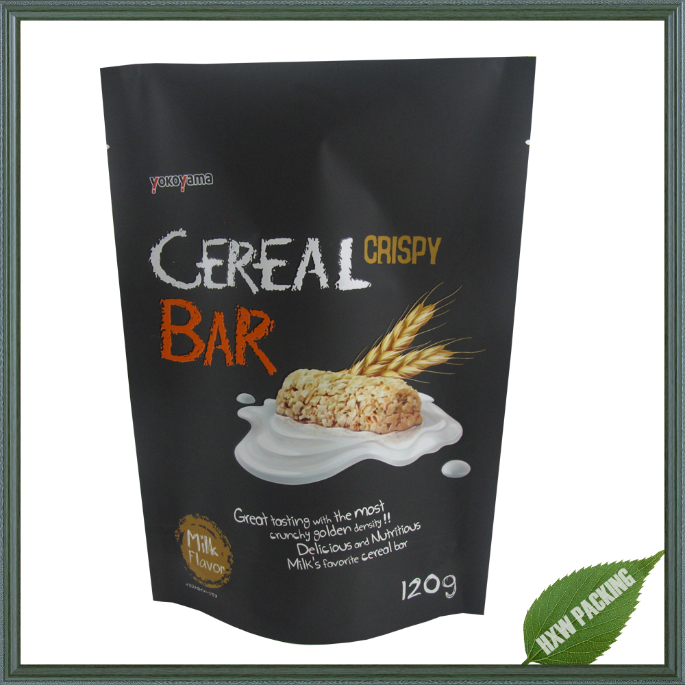 Excellent design cereal bar food packaging bag with for Food bar packaging
