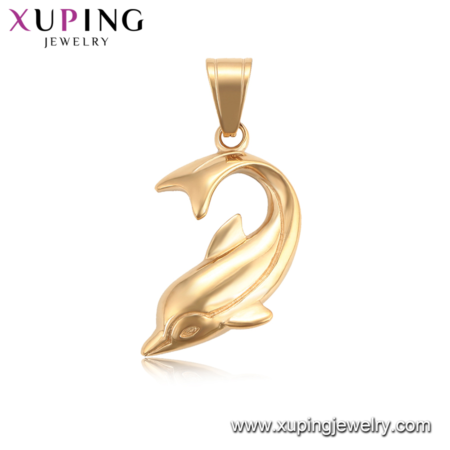 34208 xuping jewelry  fashion 18k gold color charms pendants with  animal dolphin