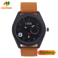 Fashion Quartz Watch Men Military Leather Strap Watch Luxury Brand Casual Fashion Watch