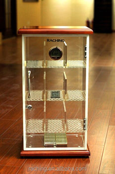 Small Sized Cigar Cabinet Model With Acrylic Humidor Cabinet