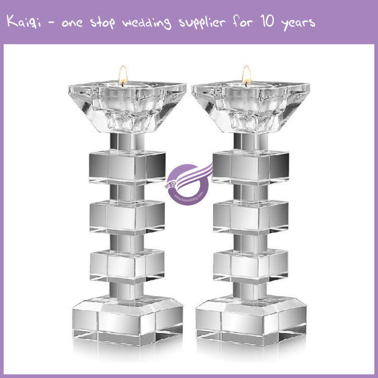 K9406 Wholesale wedding home decor crystal centerpieces candelabra