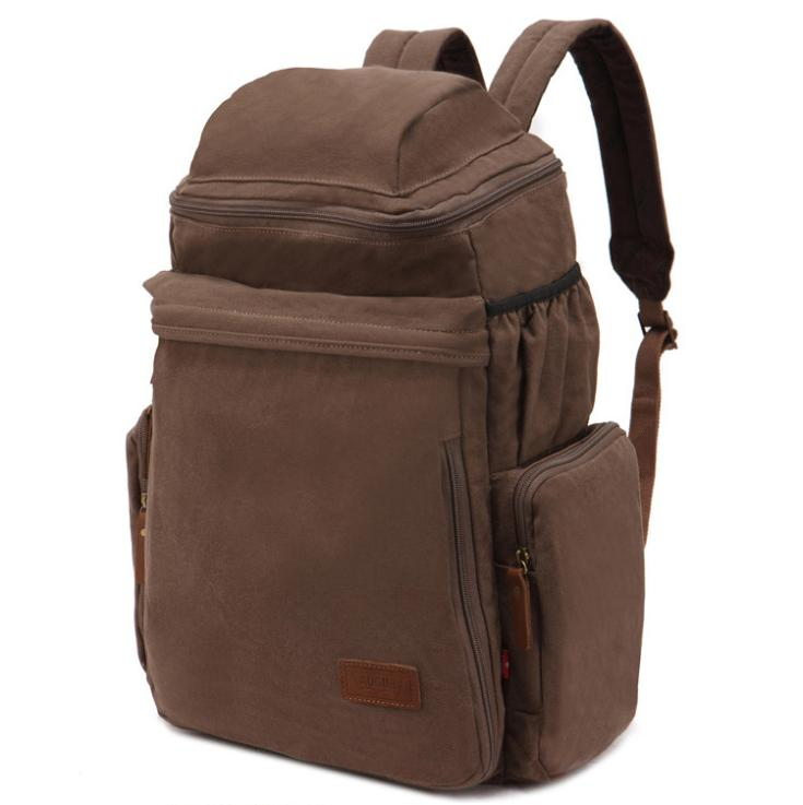 Fashion Style Outdoor Backpacks 27L Soft Canvas Travel Bags for Normal Camping Hiking Backpacks  #011618