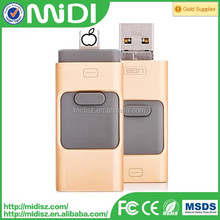 metal otg usb 2.0 3.0 flash drive for iphone smartphone