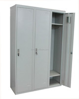 Ready to Assemble Knock down metal 3 door Single Tier Full Length lockers