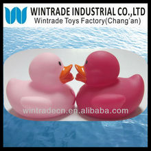 Rubber pink duck with printing