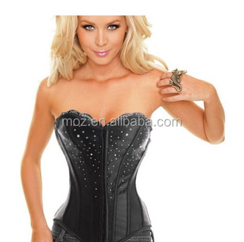 Satin bows design bodysuit rubber girdle shape up belt sexy women corset