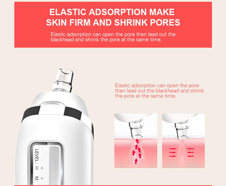 Electric suction blackhead beauty instrument vacuum suction black dead skin lift to tighten skin clean skin care support oem