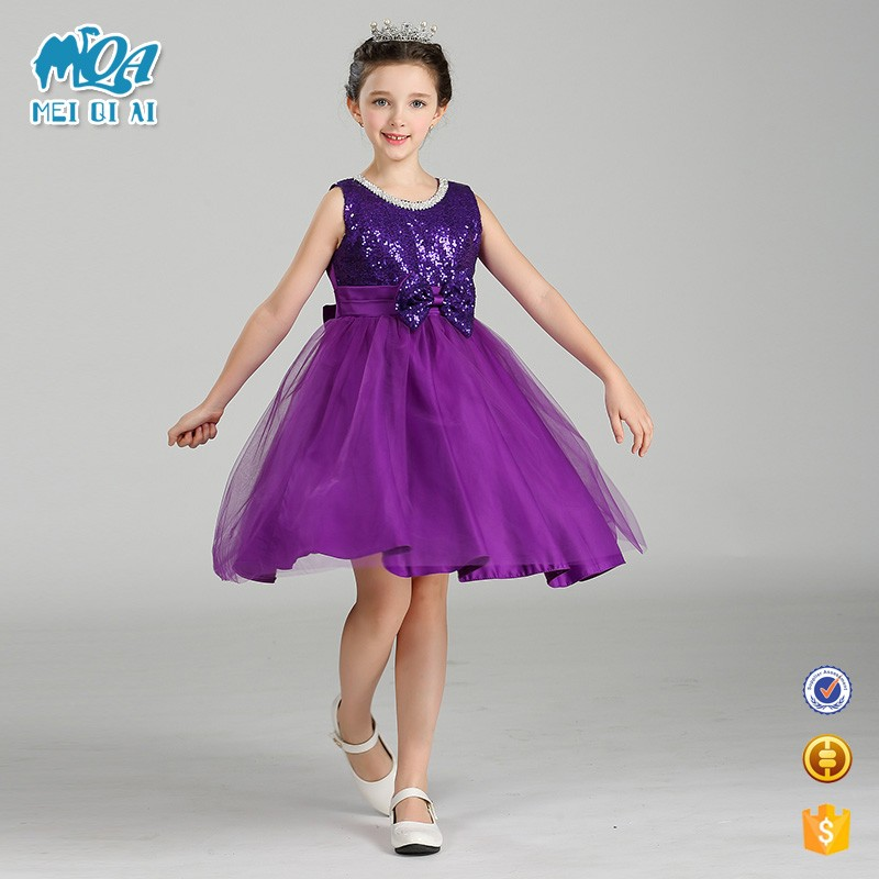 Wedding party dress kid girls puffy party dress clothing manufacturers in china LM9003