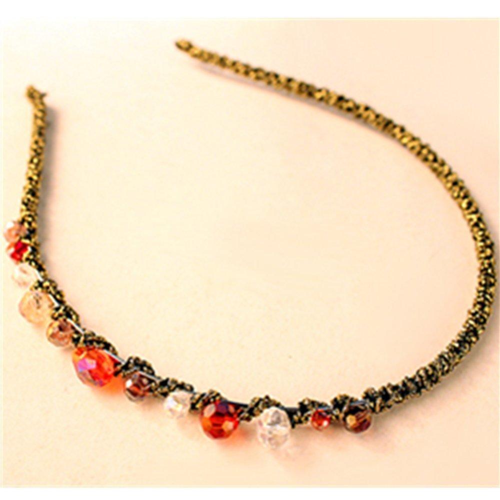 KAKA(TM) 3 Pcs Fashion Sweet Style Women's Handcraft Crystal Rhinestone Beads Headband Hair Band Hair Accessories Crystal Beaded Beads Hairpin Barrette Hair Clip