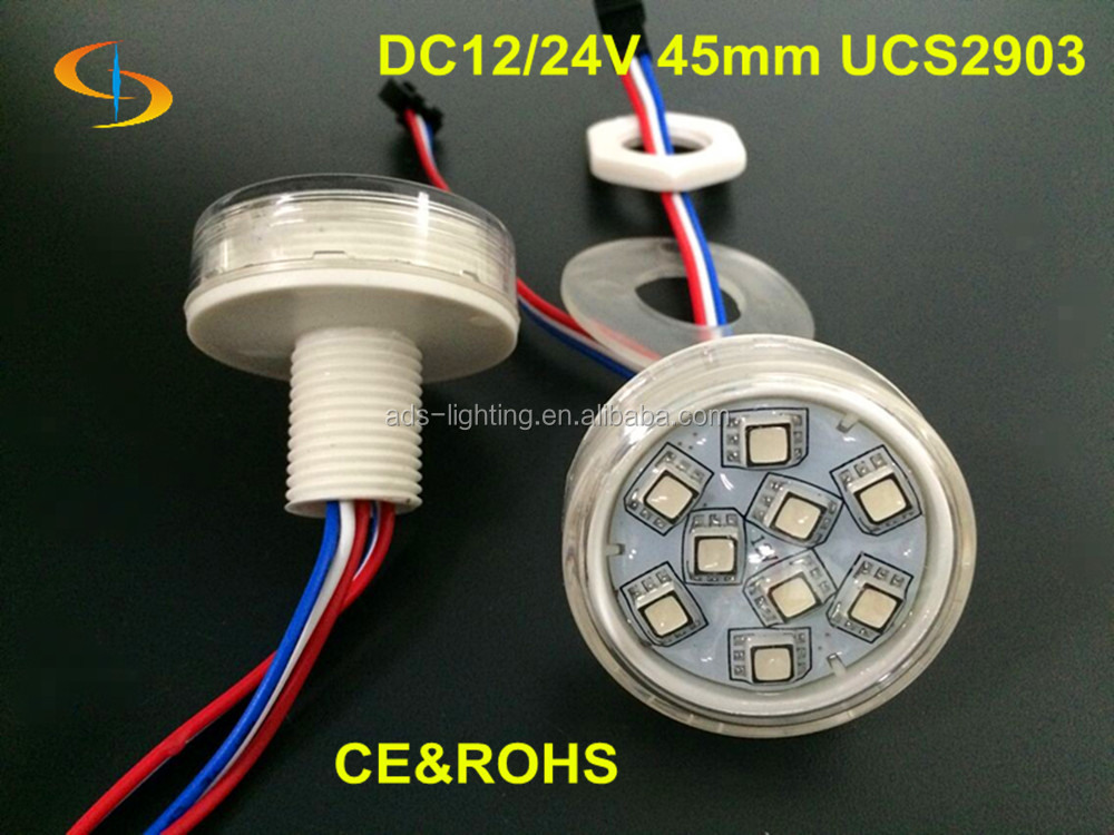 New 40mm UCS1903 led pixel module light, RGB 12 pieces 5050SMD led fun night club disco lights