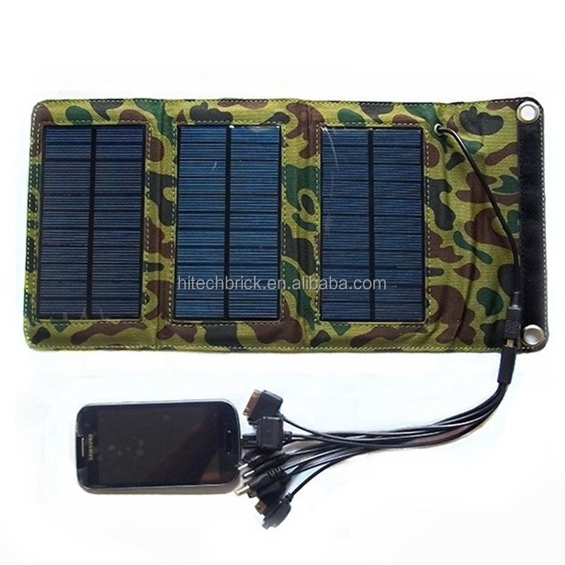 Flexible Solar Panel Charger 5W USB Battery Foldable Folding Solar Battery Solar Power Bank Mobile Charger for Laptop iPhone 6s