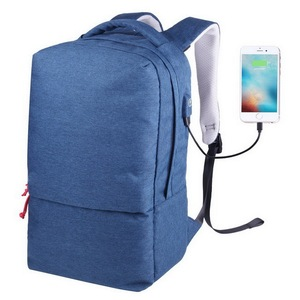 Water resistant outdoor traveling anti-theft business office computer laptop backpack with usb charging port
