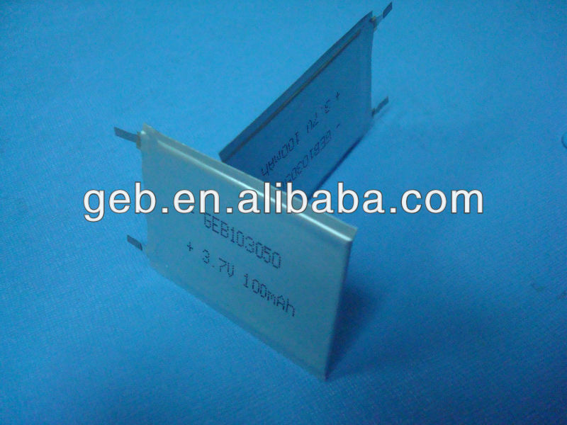 ultra thin battery polymer 3.7V 75mAh Battery