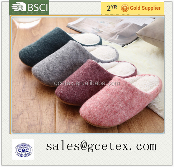 GCE1093 Hot selling fashion fluffy handmade wool bedroom slippers 2015
