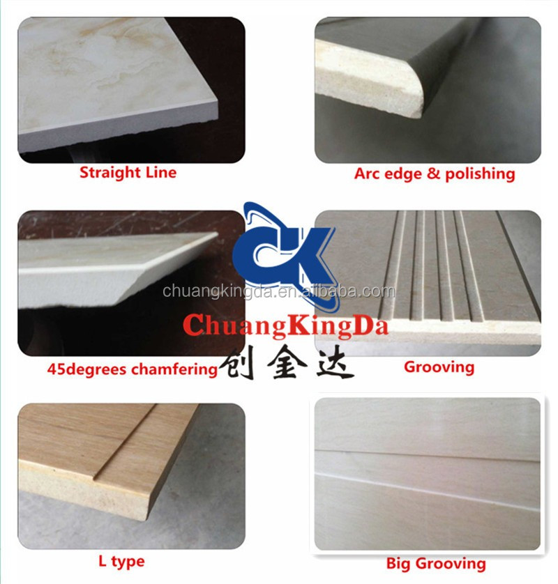 Automatic marble ceramic Tile edge grooving machine for stair step skirting