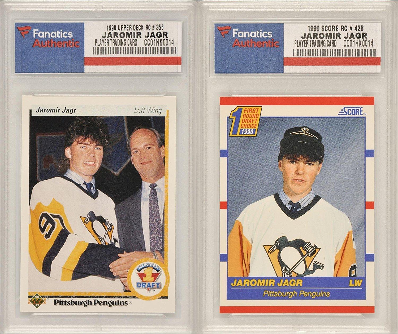 Buy 1990 Score 428 Jaromir Jagr Autographed Rookie Card