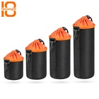 Private label waterproof protector case drawstring camera lens pouch with 4 size available