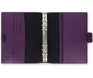 A5 6 Rings PU Notebook Cover Imitation Leather Binder with Closure