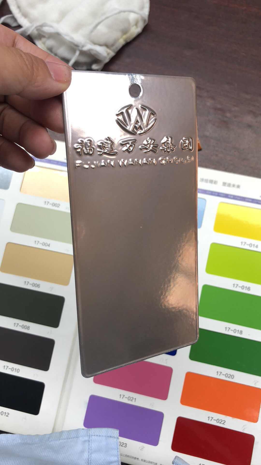 Golden  Transparent Polyester Powder Coat Color