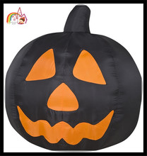 Halloween product-lighting black pumpkin, inflatable pumpkin party decoration for sale
