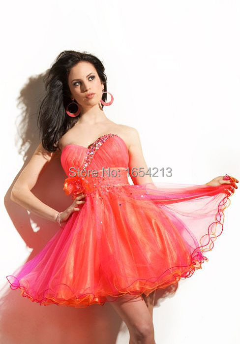 80e63fc8dfc Get Quotations · custom made sparkly organza ball gown prom dress short  prom dress party dress 2015 new arrival