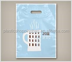 Merchandise Die Cut OEM Europe Tote Custom Printed Plastic Shopping Bag