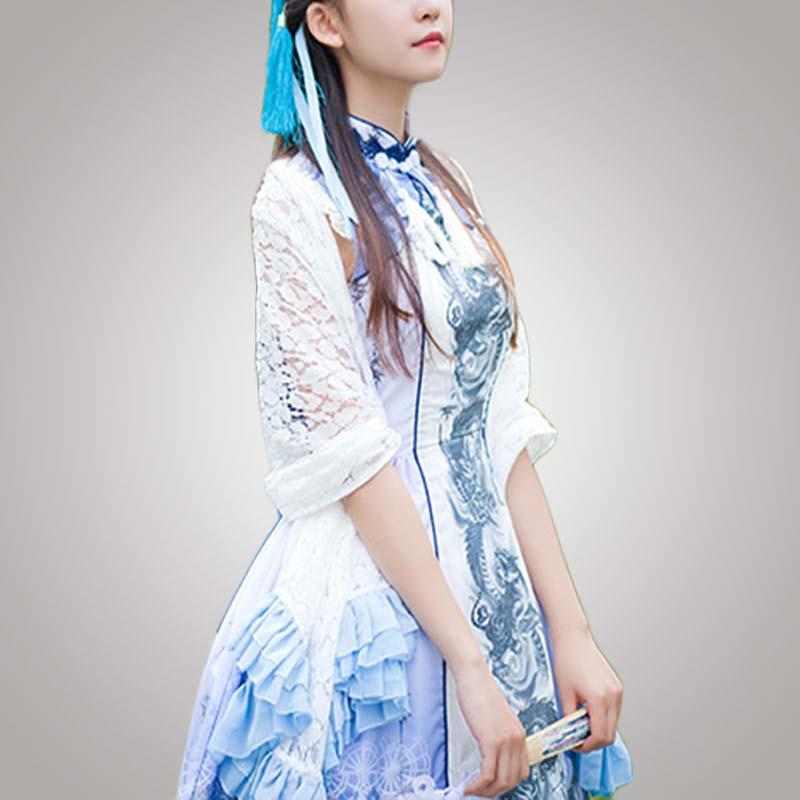 moda estilo Nueva fabricante de las diseño mujeres chino cosplay de moderno vestido dxffrIS